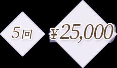5回 ¥25,000